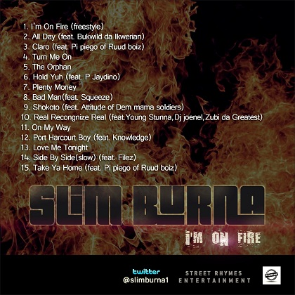 Slim Burna I'm On Fire tracklist
