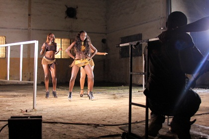 Lamili Engel Bend Down BTS Video